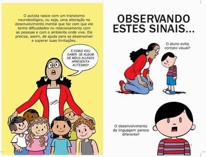 Trecho da cartilha sobre o Autismo do cartunista Ziraldo.
